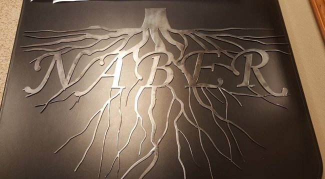 "Tree Roots ""Naber"" sign"