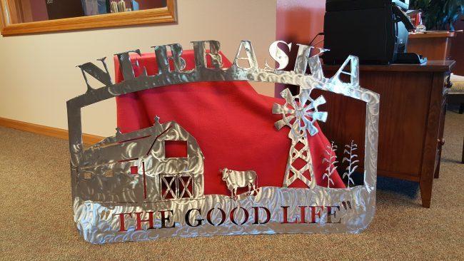 "Nebraska ""The Good Life"" sign"